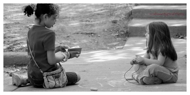 Reading to neighbour